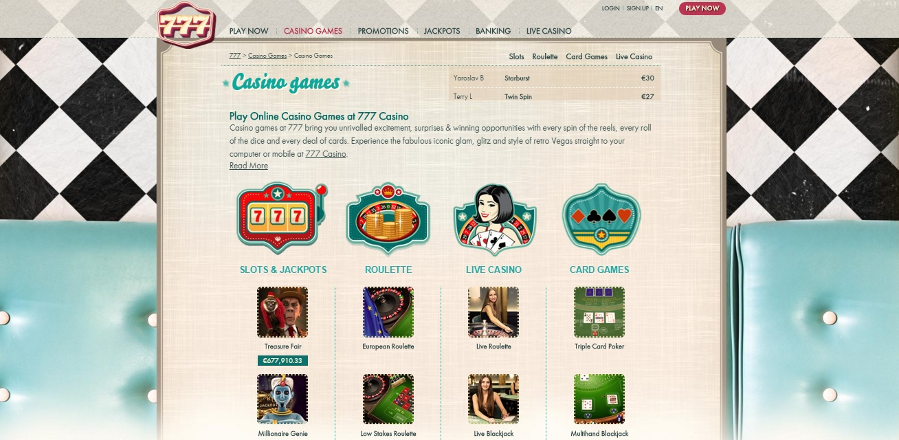 777.com casino review