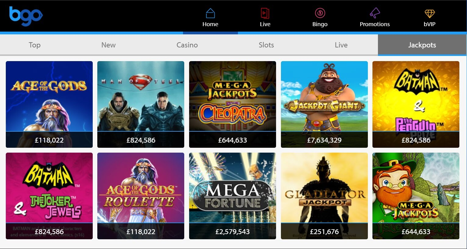 bgo casino new