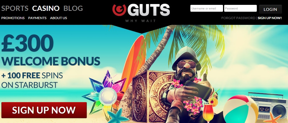 Guts Casino Online Review With Promotions & Bonuses